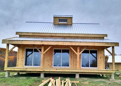 Our 20x30 Timber Frame Cabin Kits are our most customizable and