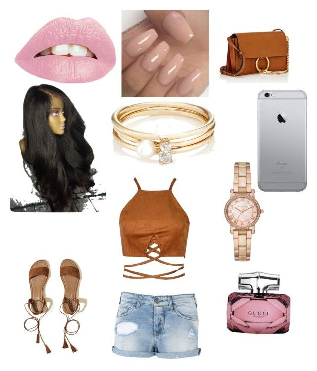"""Untitled #2"" by areneek on Polyvore featuring Armani Jeans, Hollister Co., Chloé, Gucci, Michael Kors and Loren Stewart"