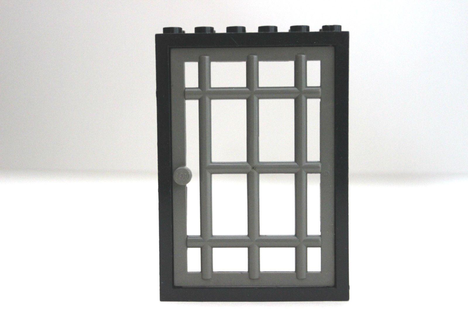 LEGO BLACK FRAME Grey Bars JAIL PRISON BARRED DOOR CASTLE PIRATES ...