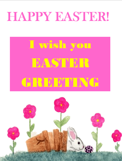 Easter Card Template  Wordstemplates    Easter Card