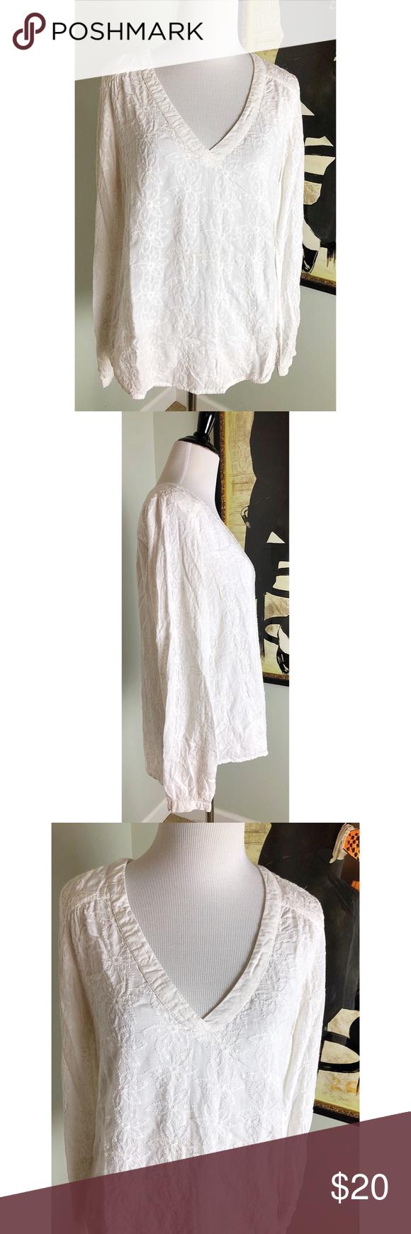 H&m lace dress white  HuM LOGG Flower Stitched Tunic Size   Flower lights Tunics and