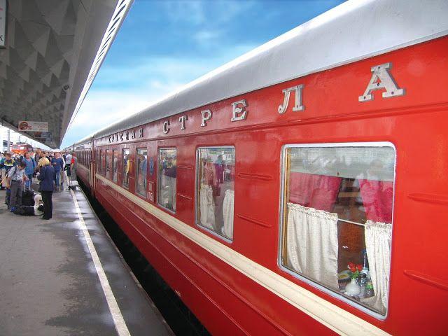 A beautiful Russian train on the Trans Siberian