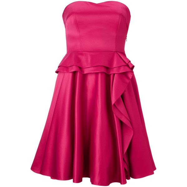 Peplum Red Short Prom Dresses