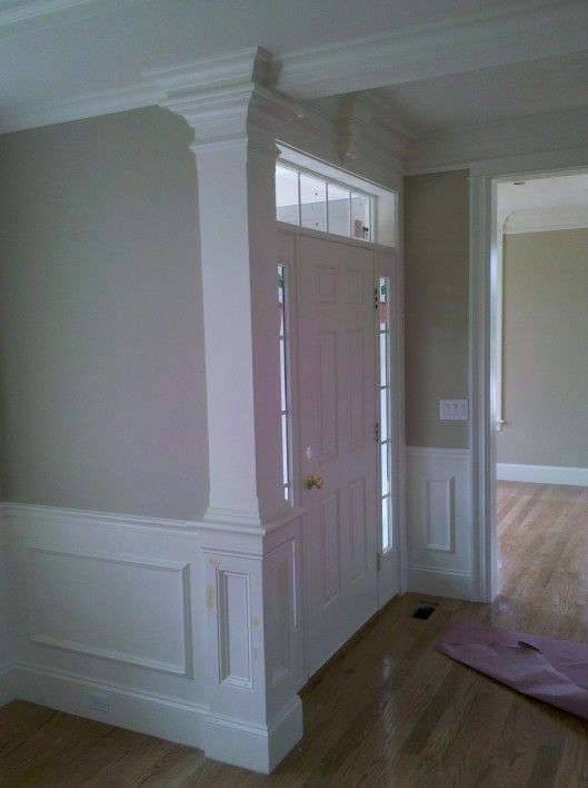 Chamfered Column W Recessed Panel Detail Applied Panel Wainscoting By Custom Home Finish Ma