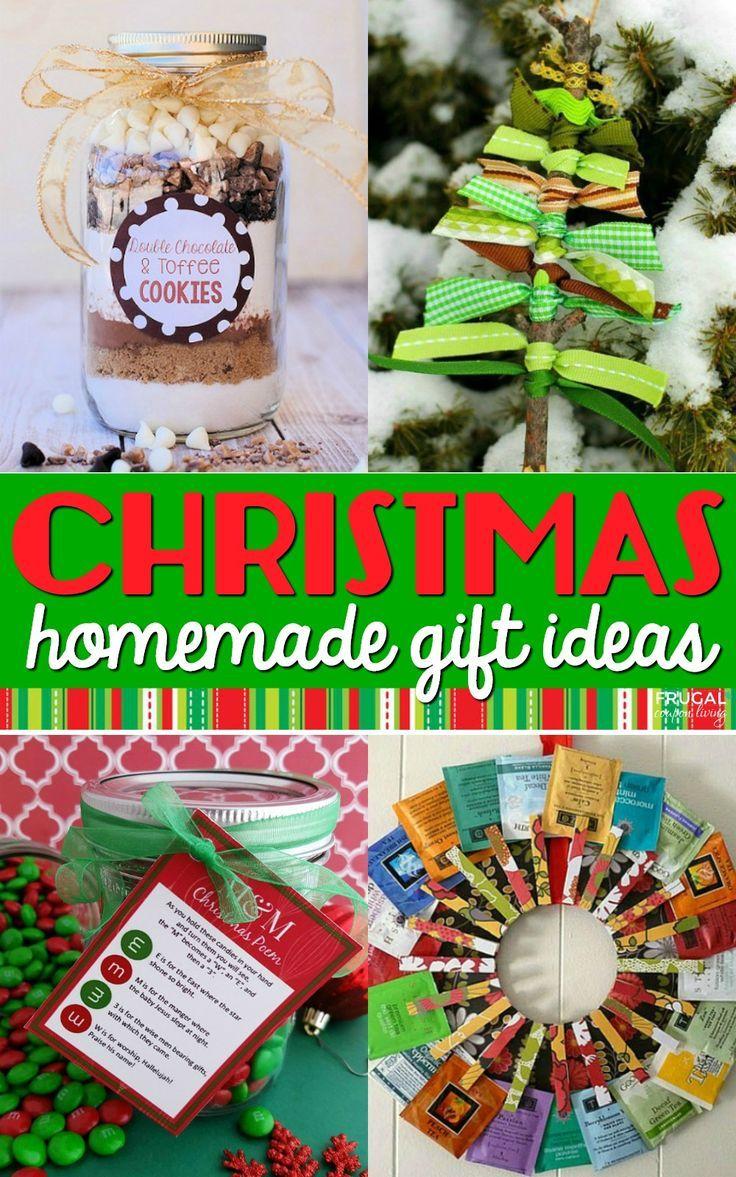 31 DIY Christmas Gift Ideas Homemade teacher gifts, Easy