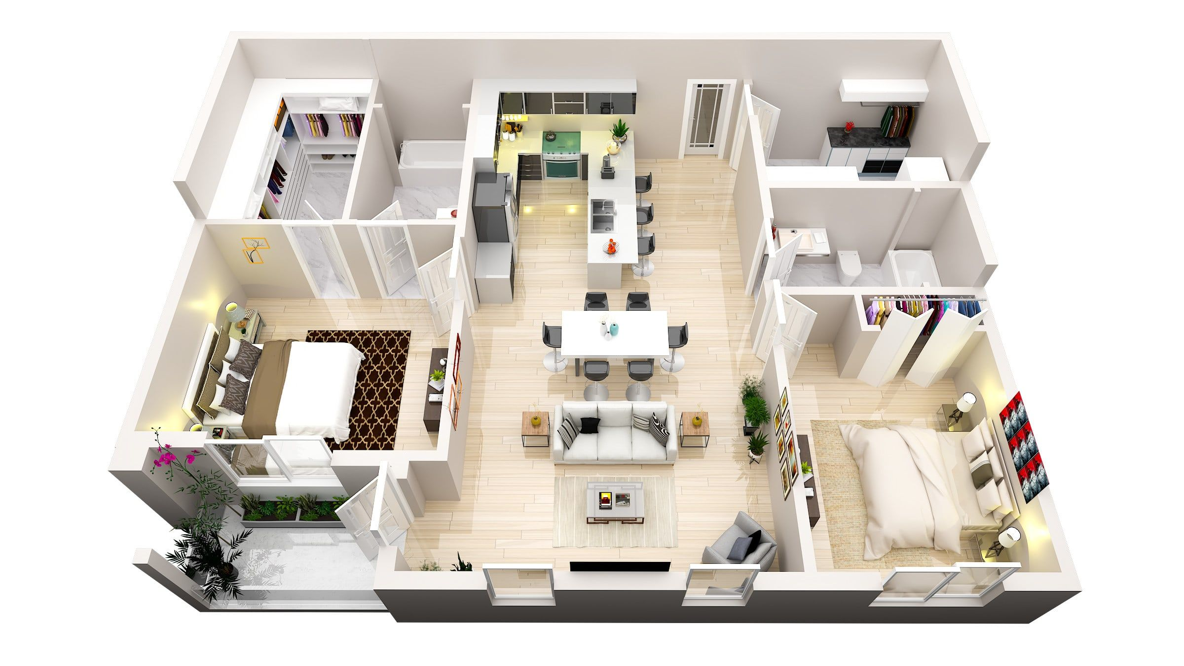 I Will Make 3d Floor Plan 2d Floorplan Rendering In 2020 Small House Design Plans Interior Architecture Design Interior Rendering