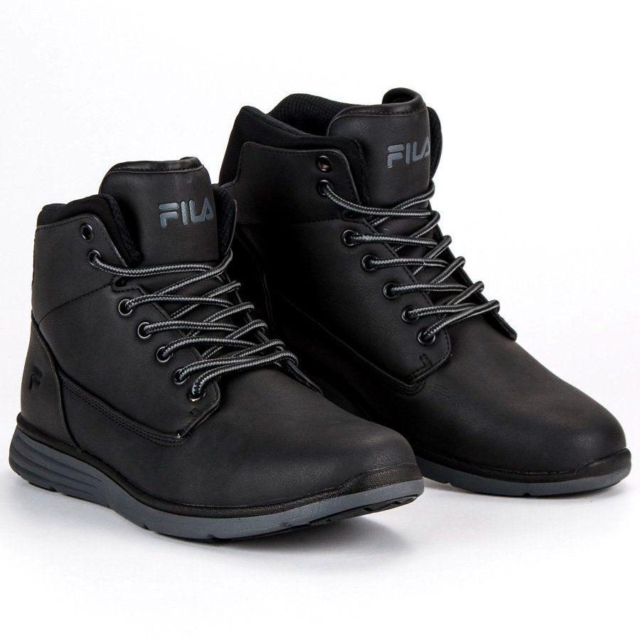 Trekkingowe Meskie Fila Czarne Fila Lance Mid 1010146 12v Timberland Boots Boots Shoes