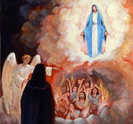Image result for Sr Faustina purgatory