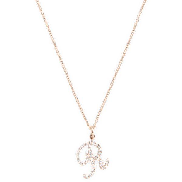 Nephora womens 14k rose gold diamond letter r pendant necklace nephora womens 14k rose gold diamond letter r pendant necklace mozeypictures Gallery