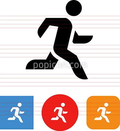 Person Running Fast Vector Icon Person Running Icon Fitness Icon