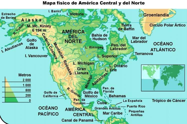 Información E Imágenes Con Mapas De América Político Y Físico Map Blog Blog Posts