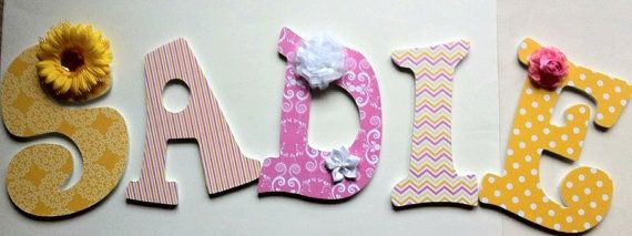 wall letters wood names boys or girls room by DeesDazzleDesigns