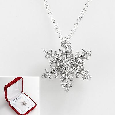 10k Gold And Diamond Snowflake Necklace Snowflake Jewelry Luxury Jewelry Jewelry