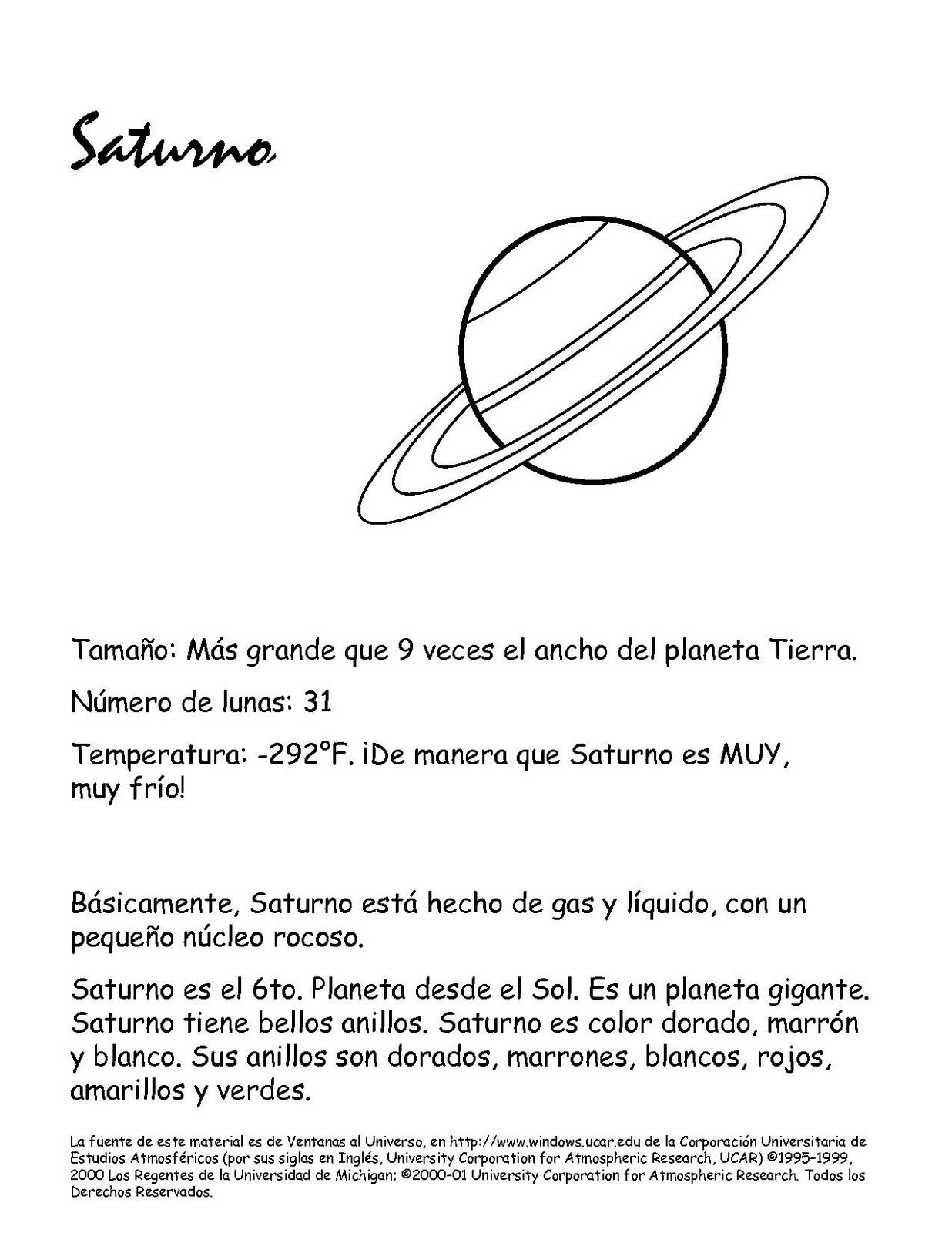 Para Colorear El Planeta Saturno Caracteristicas Dibujo Colorear Sistema Solar Saturn Cartoon Stickers
