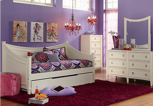 jaclyn place ivory 3 pc daybed bedroom pinterest daybed teen rh pinterest co uk Discontinued Rooms to Go Bedrooms Rooms to Go Bedroom Packages