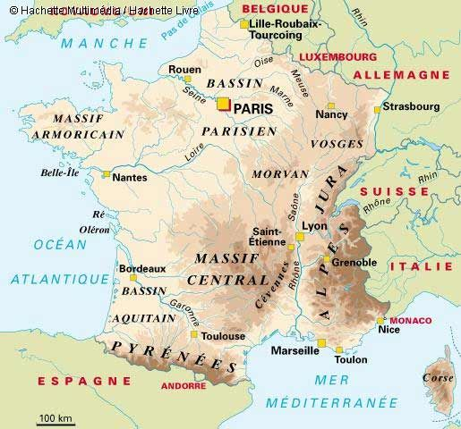 France | France   Carte geographique | France in a Glance