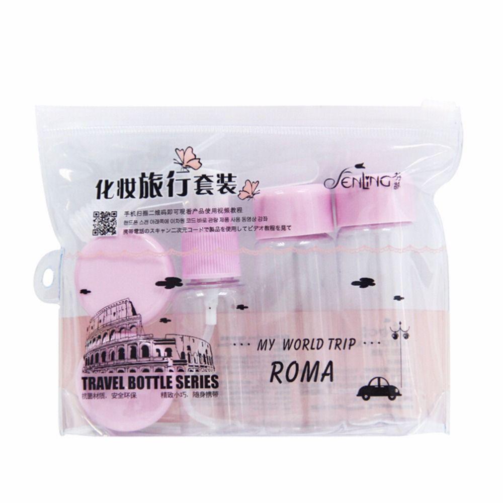 Travel Mini MakeUp Container Bottle Plastic Transparent Empty Eyeshadow Makeup Face Cream Pot 7pcs/Set