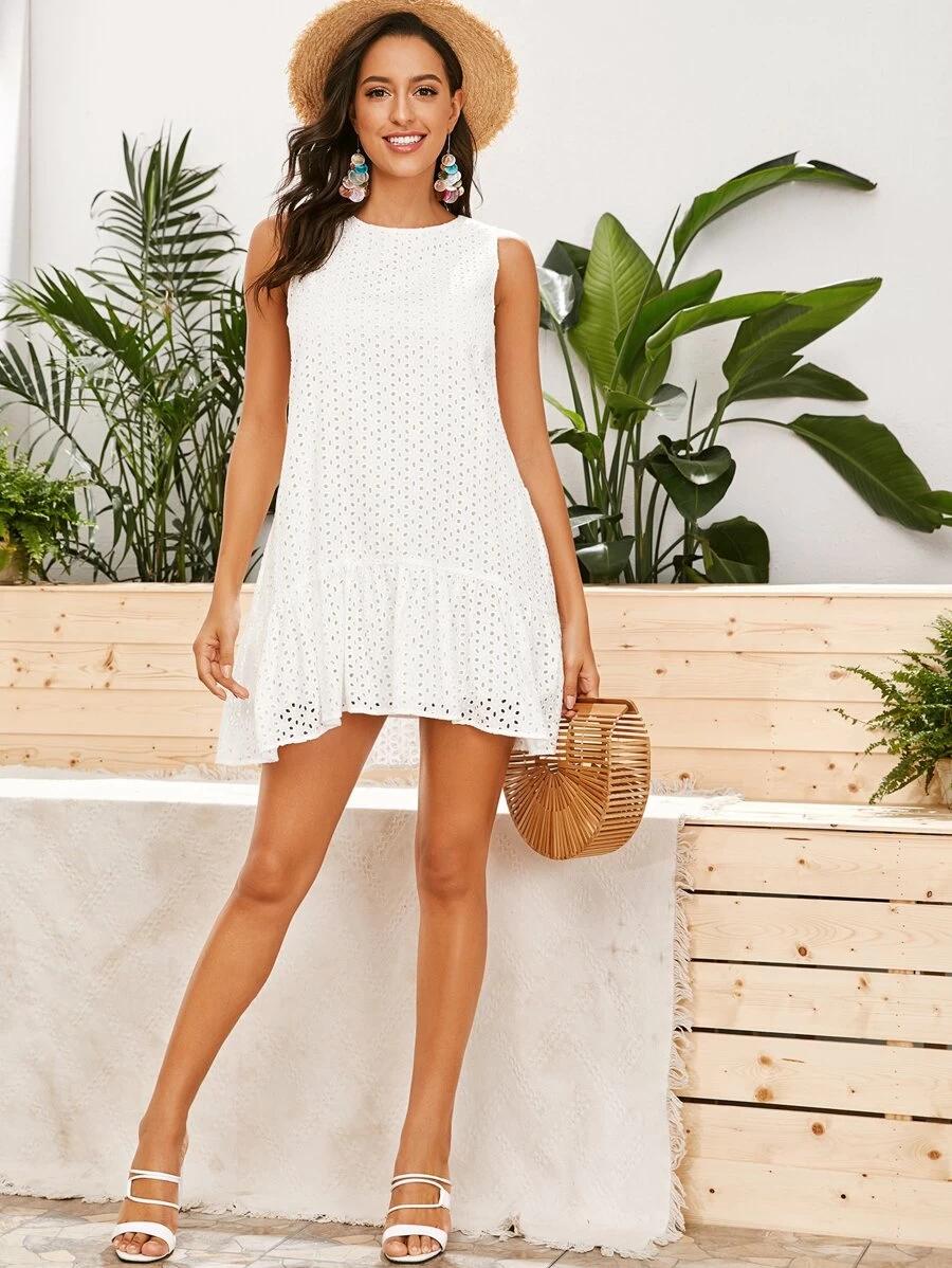Kleid Mit Raffung Aktuelle Trends Gunstig Kaufen Shein Deutschland Kleider Smok Kleider Modestil