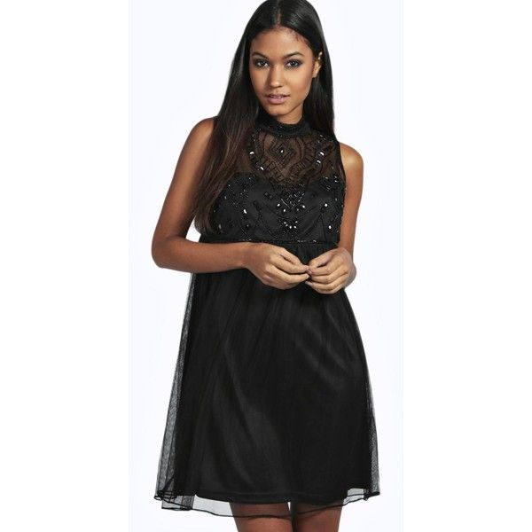 Baby Doll Black Cocktail Dress