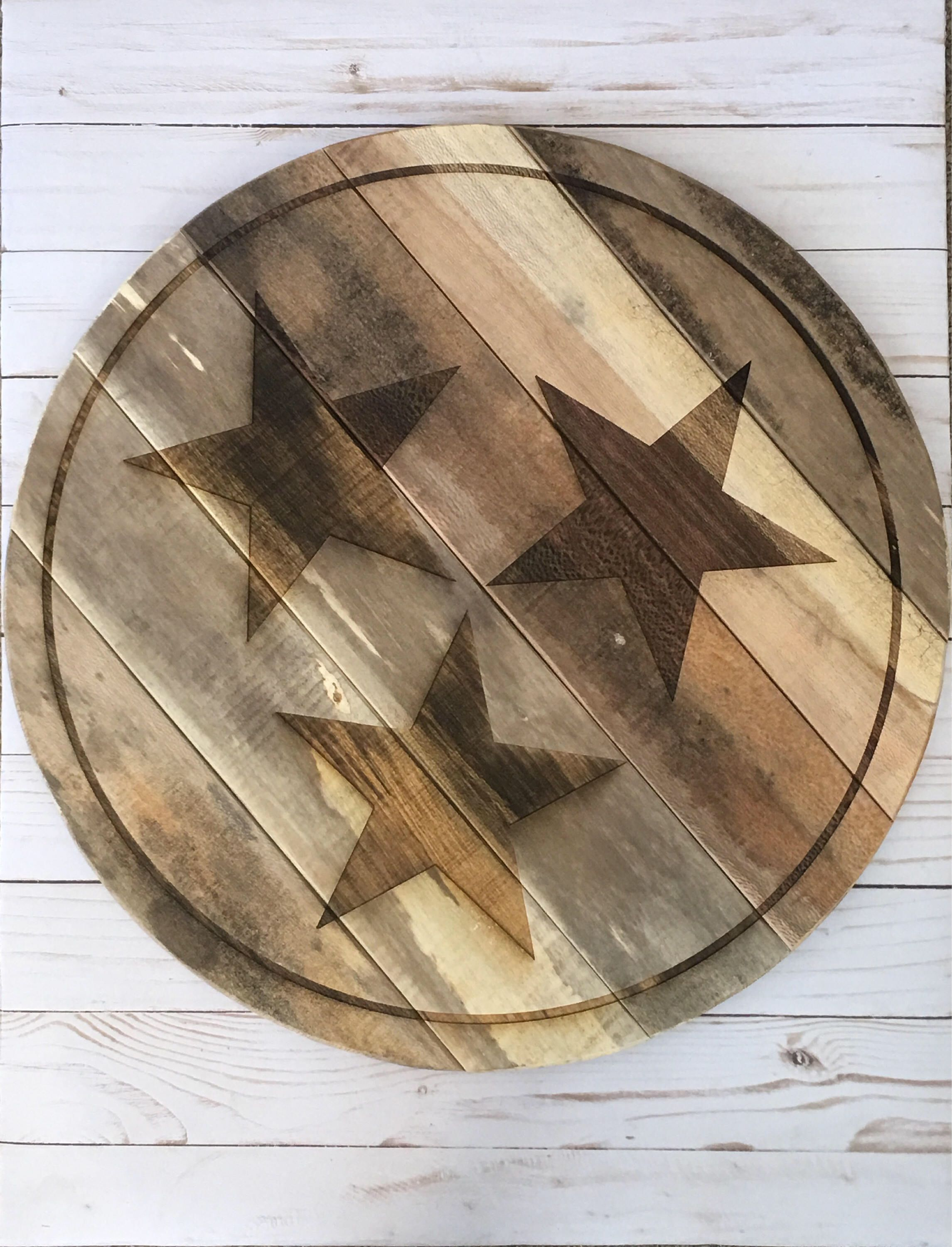 Laser Engraved Tennessee Tri Star Sign By Laserlingo On