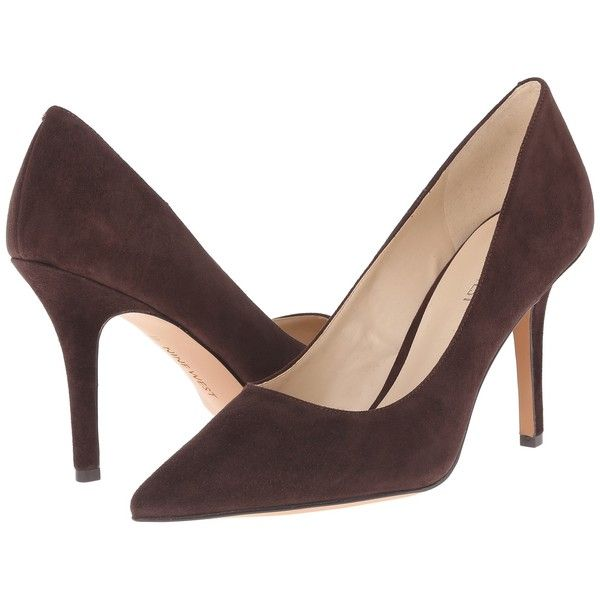 84cb0ec6a4913 Nine West Jackpot (Dark Brown Suede) High Heels ($40) ❤ liked on ...