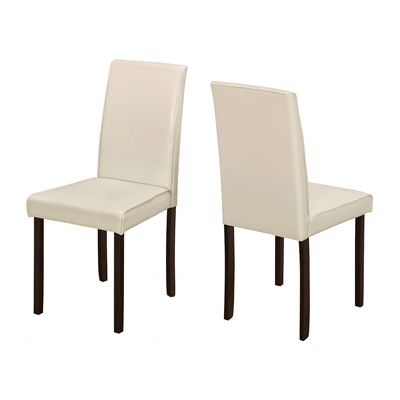 Monarch Specialties I 117 Faux Leather Dining Chairs (Set of 2)