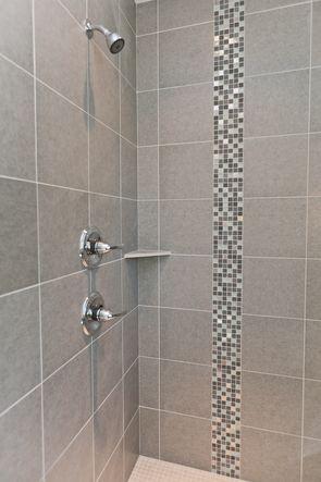 tile shower with mosaic tile details our bathrooms shower tile rh pinterest com bathroom walk in shower tile ideas bathroom walk in shower tile ideas