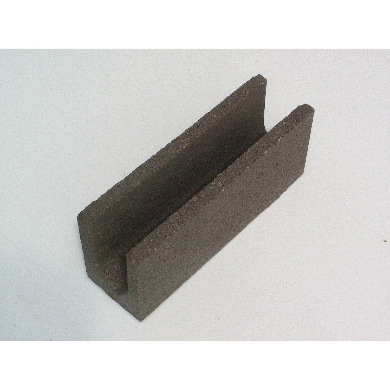 Parpaing Chainage Horizontal Beton Nf P 50 X H 20 X Ep 20 Cm Parpaing Brique Et Beton