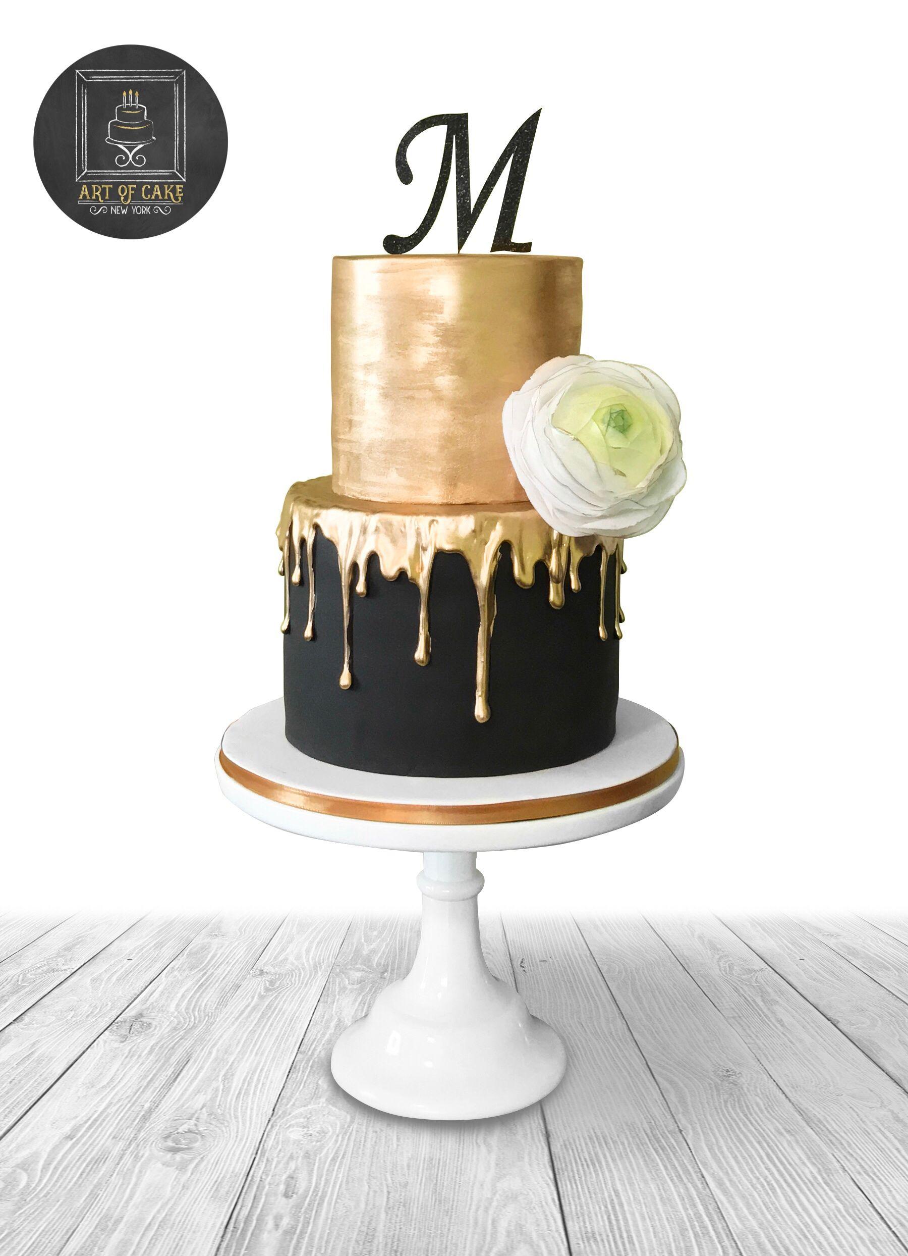 Gold Drip Cake Harper S 3 Gold Birthday Cake Golden