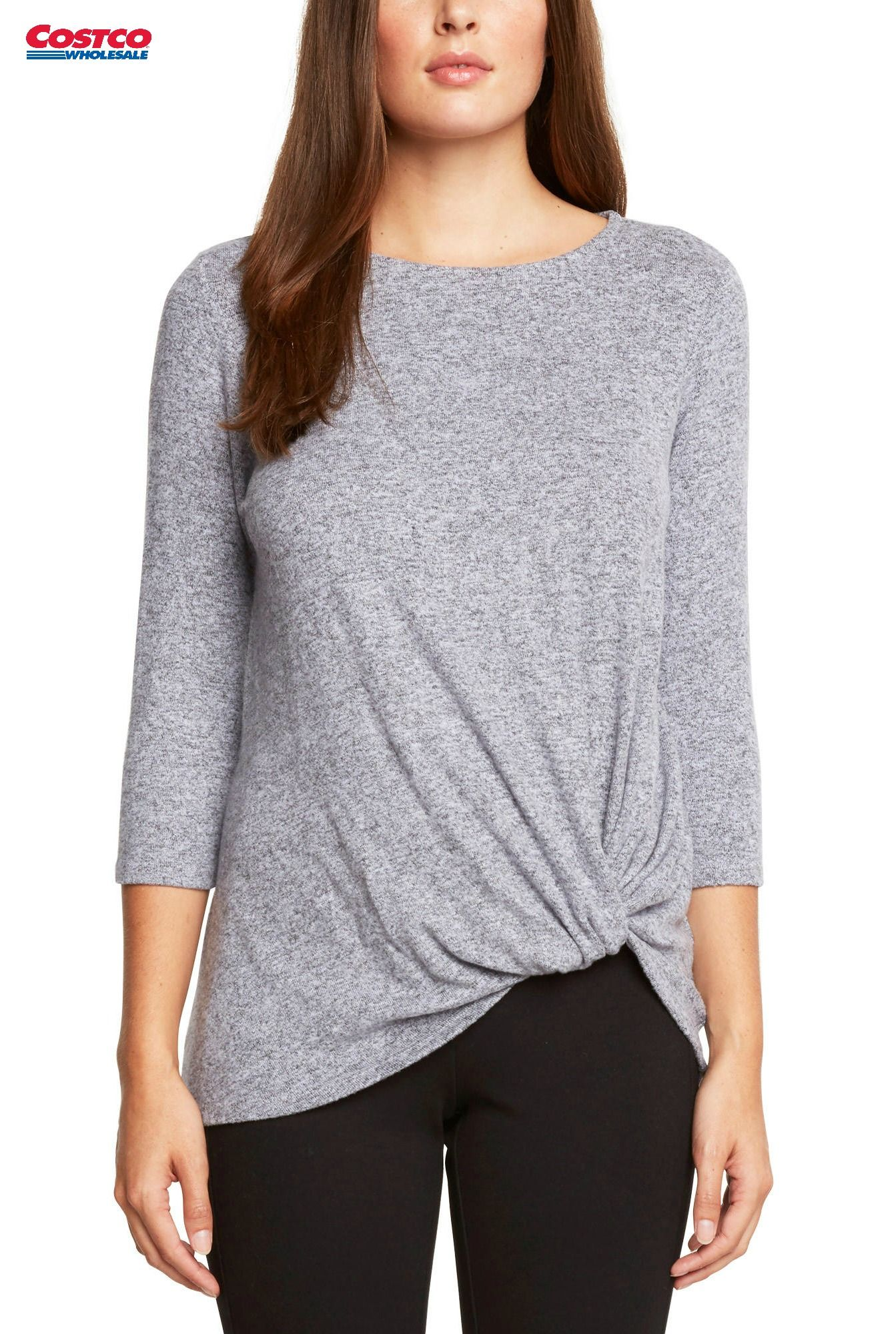 Matty M Ladies Knot Top At Costco With Three Different Colors And