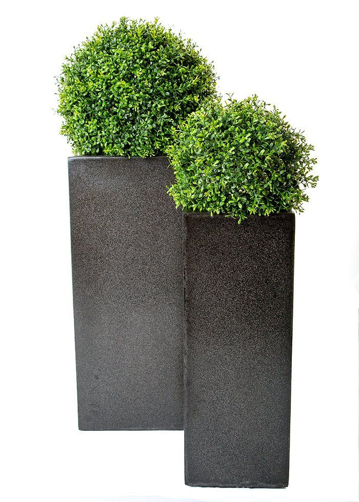 Deluxe Topiary Balls In Tall Square Planter 1 Planters
