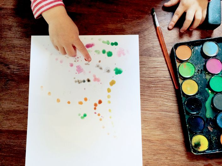 how to: water color painting for toddlers.