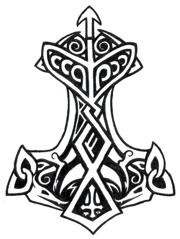 Thor S Hammer 2 By Gnomage On Deviantart Viking Symbols And Meanings Viking Symbols Nordic Symbols