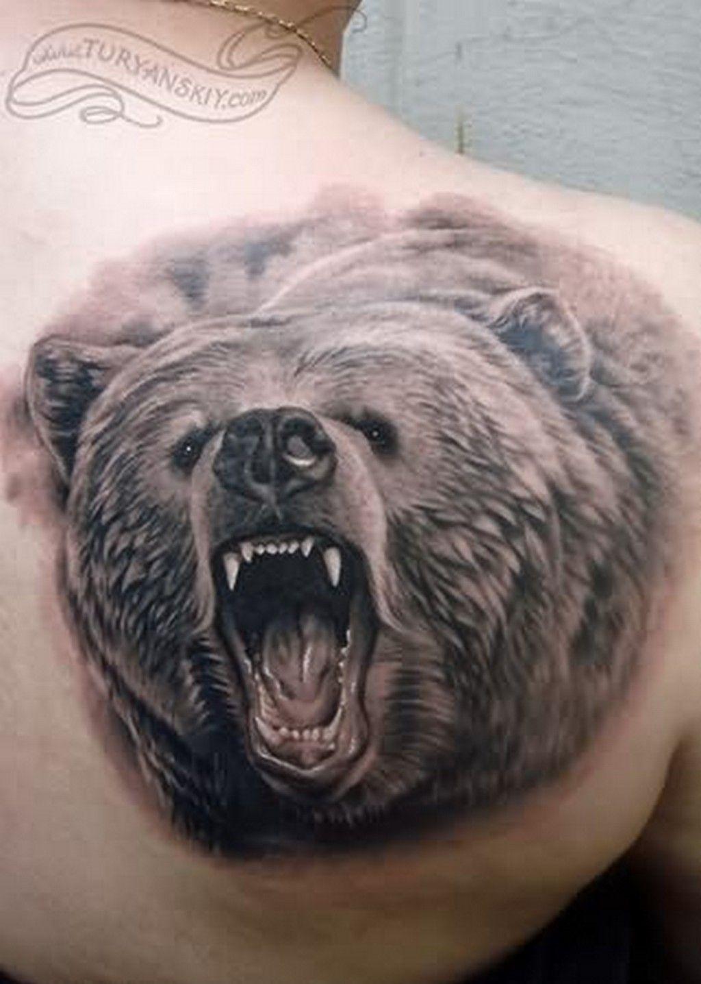 Тату медведей 110 лучших фото татуировок 2018 года 53