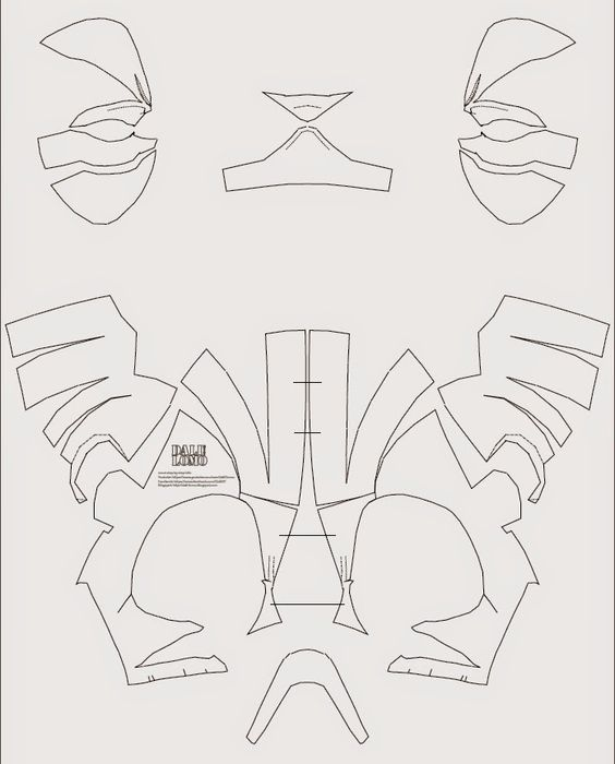 Deadpool Semi-Rigid Costume Mask DIY (PDF template) | Kostüm