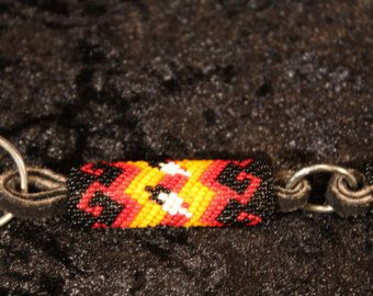 Native American beaded keychain hook by MyMcKayla on Etsy