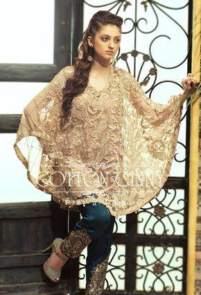 cdff1a809 Latest Pakistani Cape Style Dresses 2017-2018 Designer Collection ...