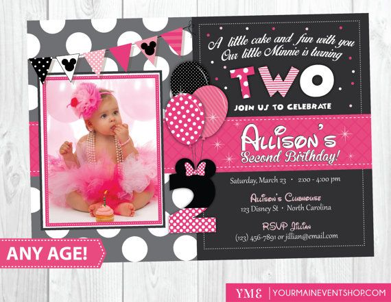 This Birthday Invitation Is Perfect For Your Minnie Mouse