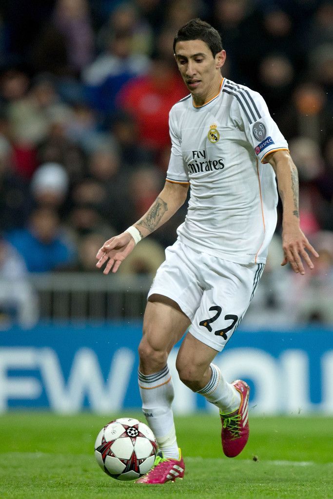 Angel Di Maria In Action During The Uefa Champions League Group B Match Between Real Madrid Cf And Angel Di Maria Estadio Santiago Bernabeu Sports Celebrities