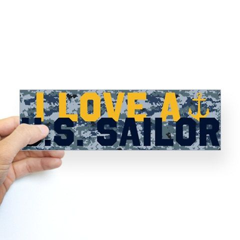 I love a u s sailor bumper sticker help us salute our veterans by