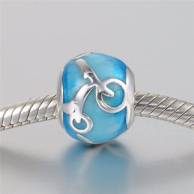 Bicicletta bead con bici e smalto, Argento sterling 925 adatta misure Pandora charm Pandora bead, Braccialetto europeo, Braccialetto Pandora di OceanBijoux su Etsy