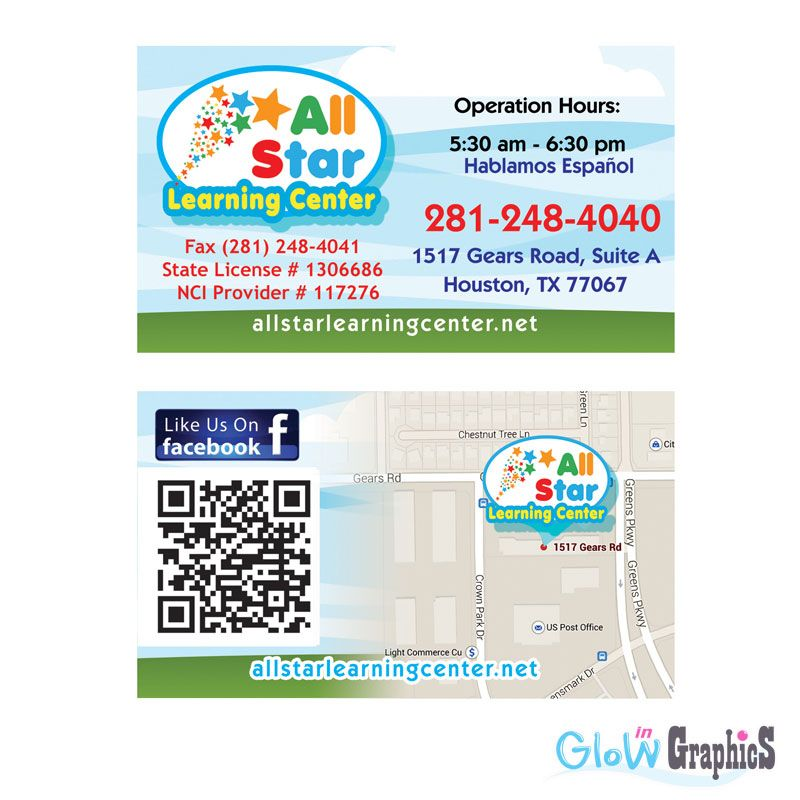 Glow In Graphics Digital Printing Houston Tx Business Cards