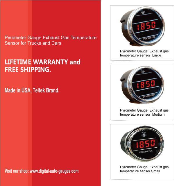 Pyrometer Gauge Exhaust Gas Temperature Sensor for Trucks