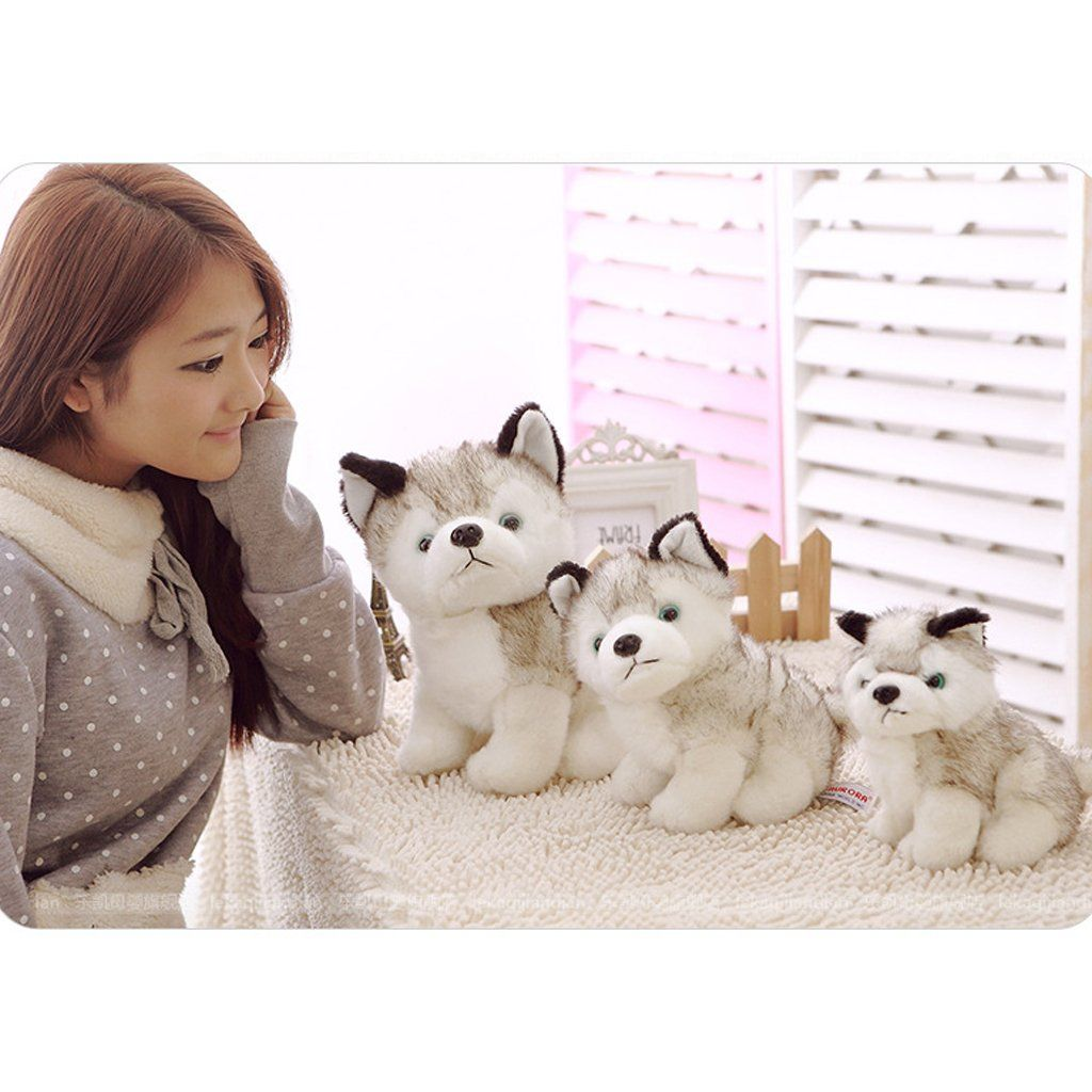 Jili Online 20cm Huskie Puppy Dog Soft Plush Toy Stuffed