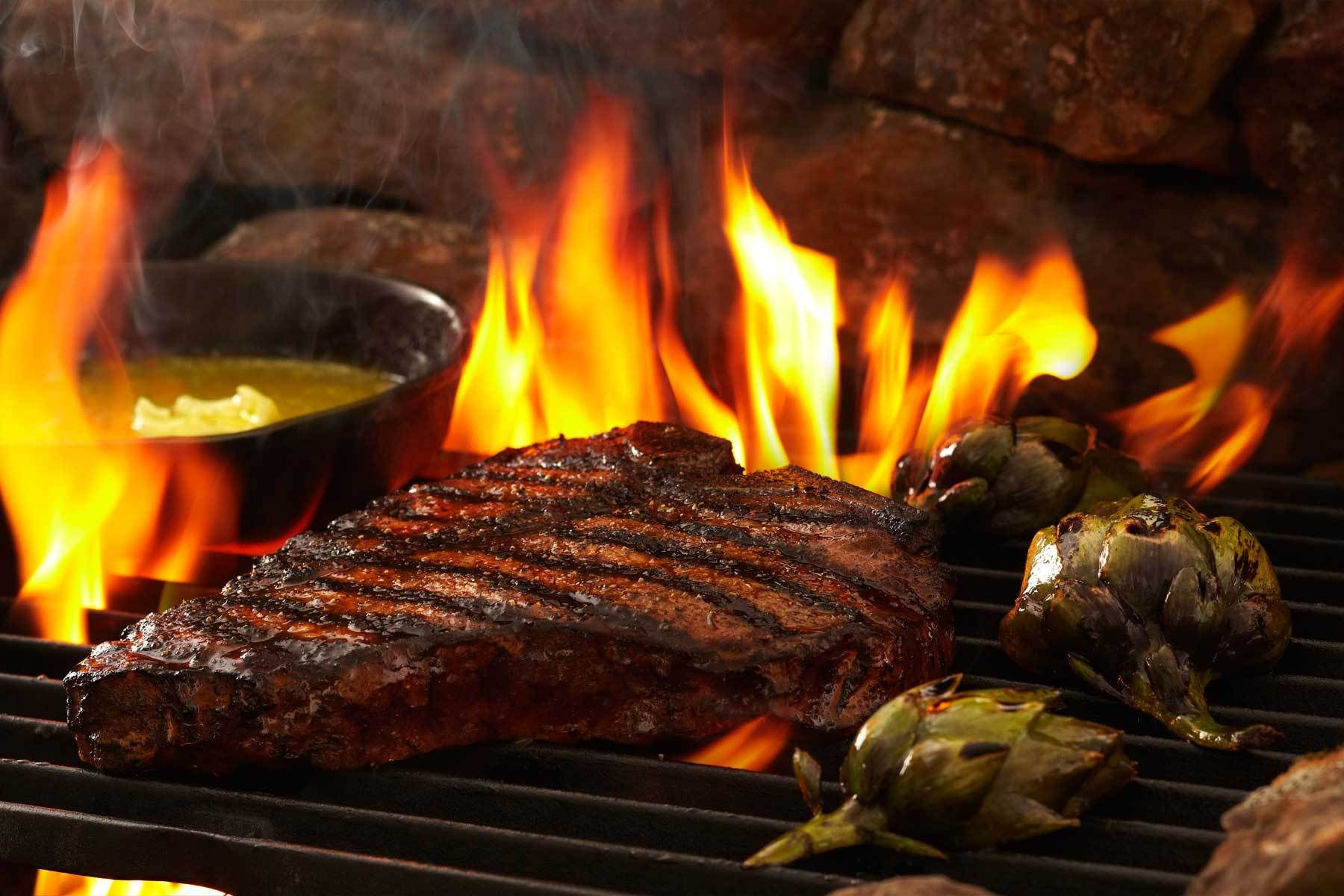 Image result for steak on grill