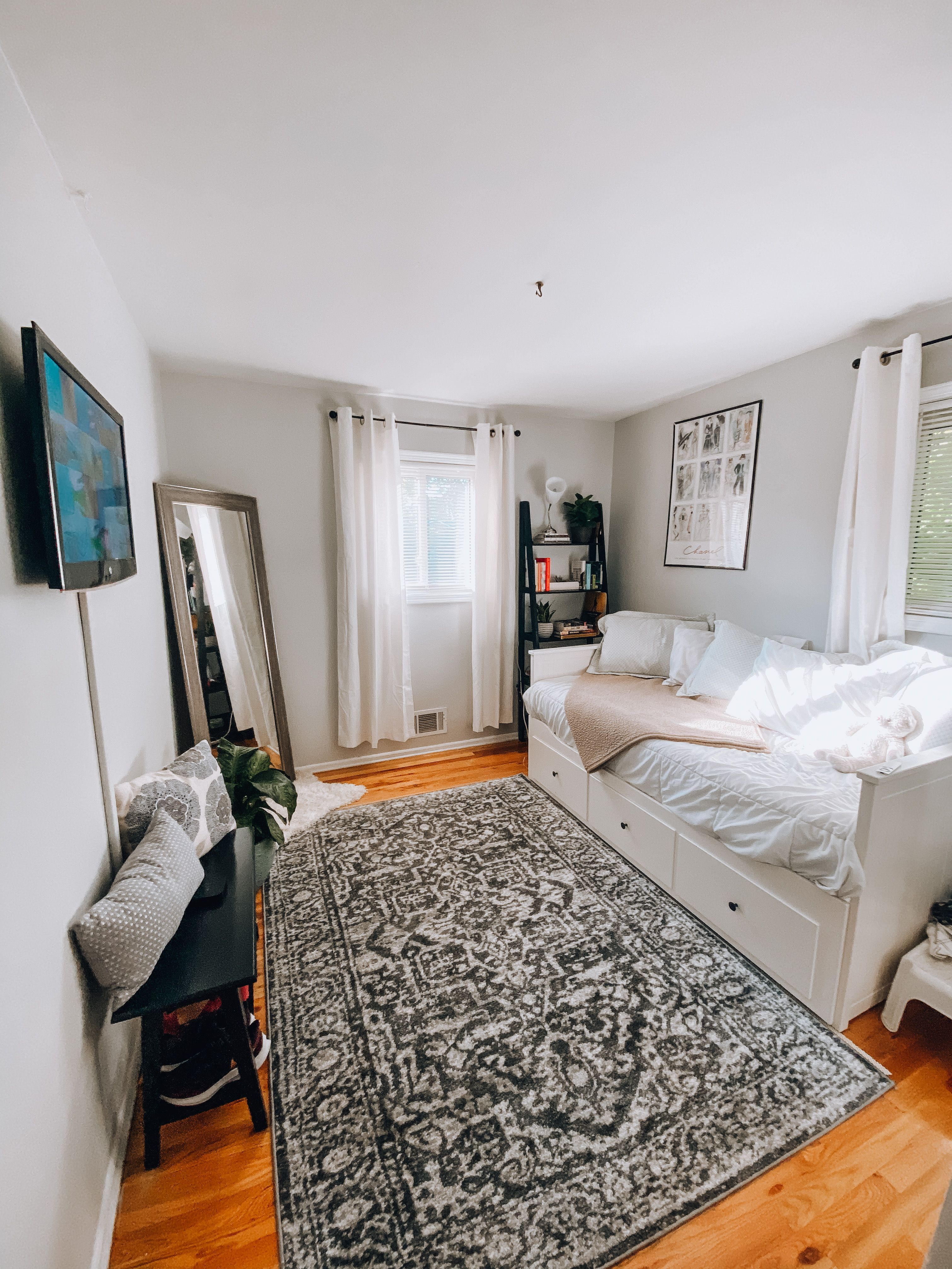 Guest Room Makeover Small Bedroom Makeover Ikea Small Bedroom Bedroom Makeover Bedroom decor ideas ikea