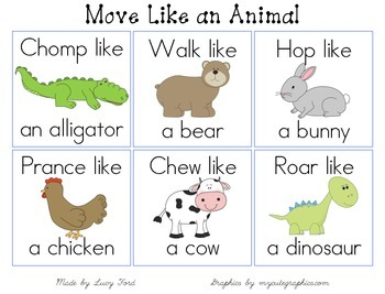 Move Like An Animal Cards Animal Activities For Kids Animal Lessons