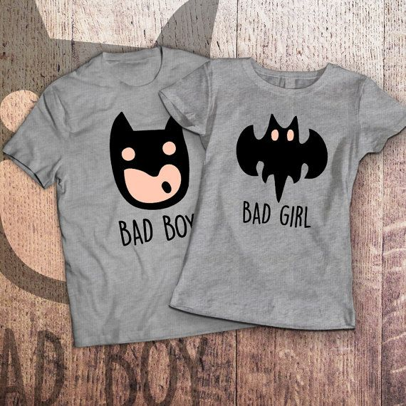 e2d65ac872 Couple T-shirts set Bad Boy Bad Girl by SayYouLoveMeGifts on Etsy