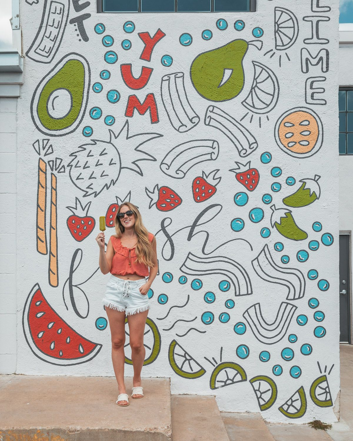 Yum Fresh Mural At Steel City Pops In Downtown Austin