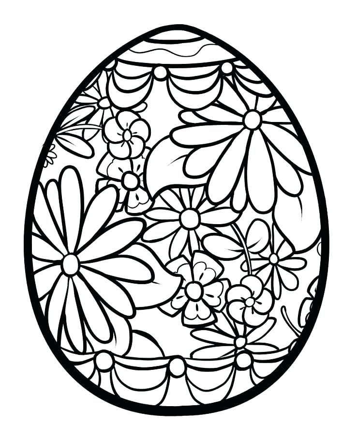 Easter Egg Printable Coloring Pages Eggs Coloring Pages Plain Egg